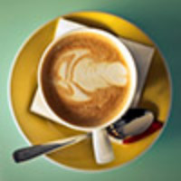 This example resizes a JPG image of a cup of coffee from a tiny icon of 100x100 pixels to 200x200.