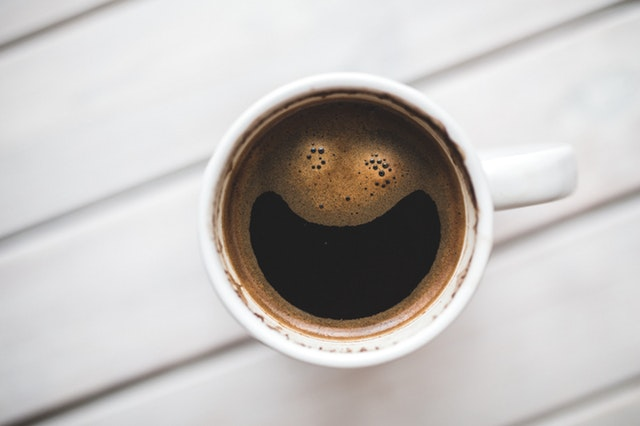 This example converts a JPG photo of a smiling coffee face into base64 string.