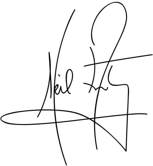 In this example, we create an electronic signature with a transparent background. We load a JPG image of Neil Armstrong's signature as the input, remove the white background from it, and get a transparent digital stamp as the output. To also remove gray spots around the ink, we increase the color threshold to 10%. The transparent signature can be saved via the download button and it can be used to sign all digital documents.